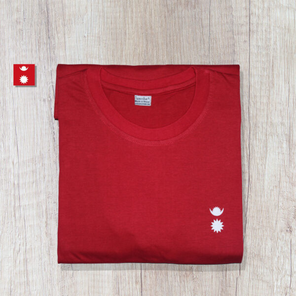 Chandra Surya Printed T-Shirt-Red