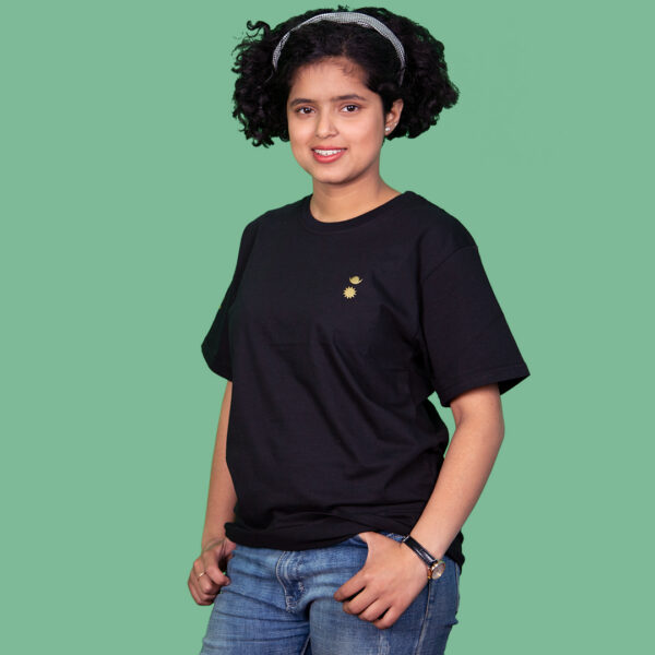 Chandra Surya Printed T-Shirt-Black – M