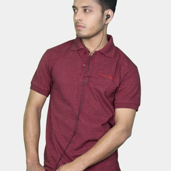Polo T-Shirt- Maroon