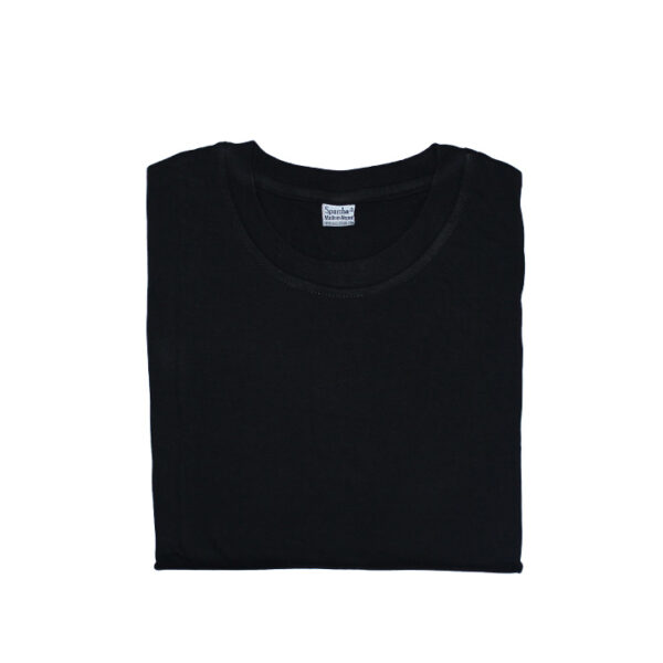 Sparsha Plain Black T-Shirt (Unisex)
