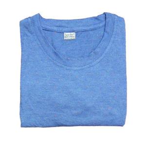 Sparsha Dotted Blue Plain T-Shirt For Women