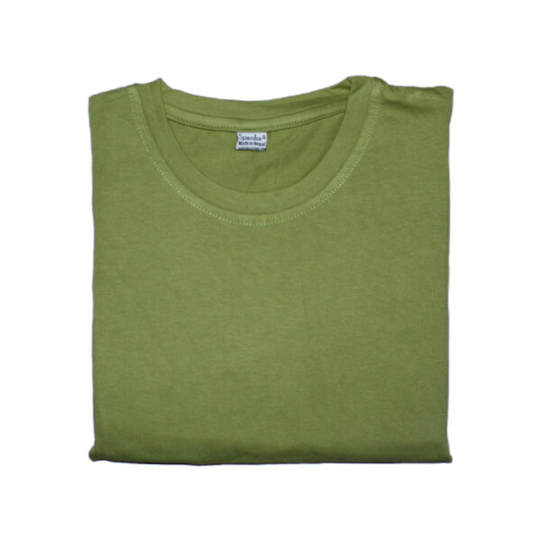 Sparsha Plain Soft Green T-Shirt For Women