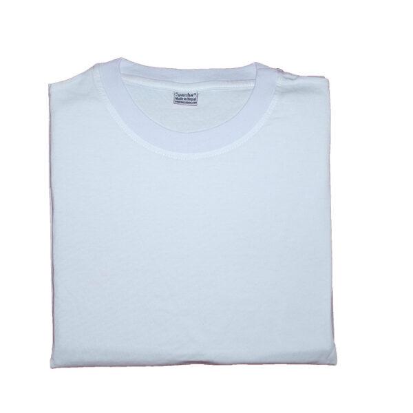 Sparsha Plain White T-Shirt (Unisex)