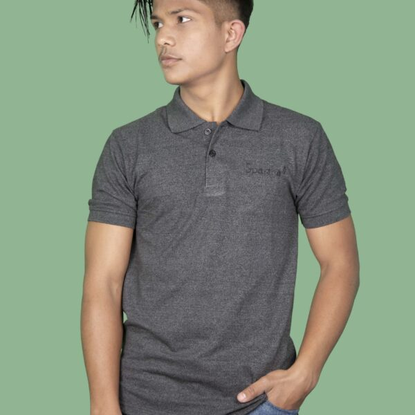 Polo T-Shirt- Dark Grey