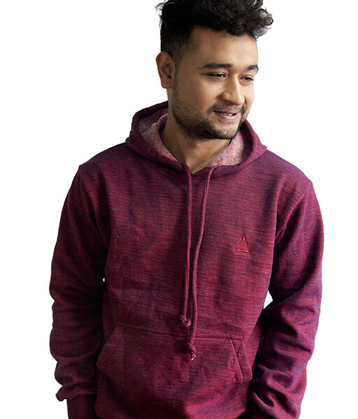 Sparsha Logo Threaded Maroon Hoodie