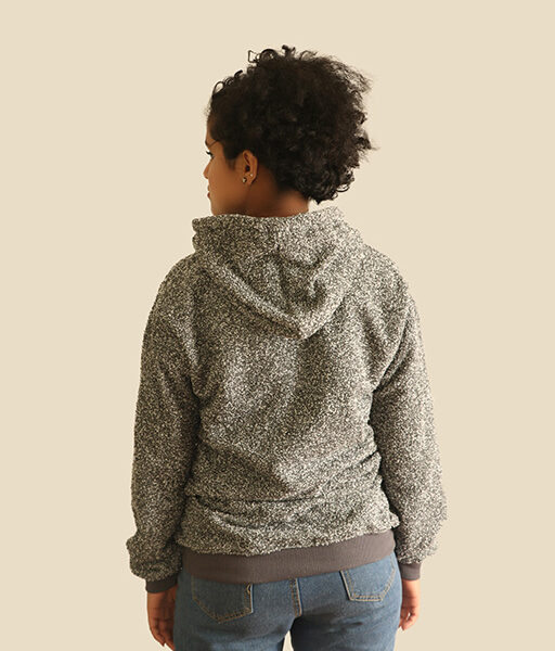 Moomin Design Embroidery Grey Hoodie For Women