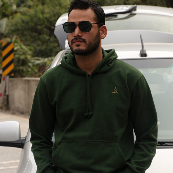 Sparsha Logo Threaded Green Hoodie (Unisex)