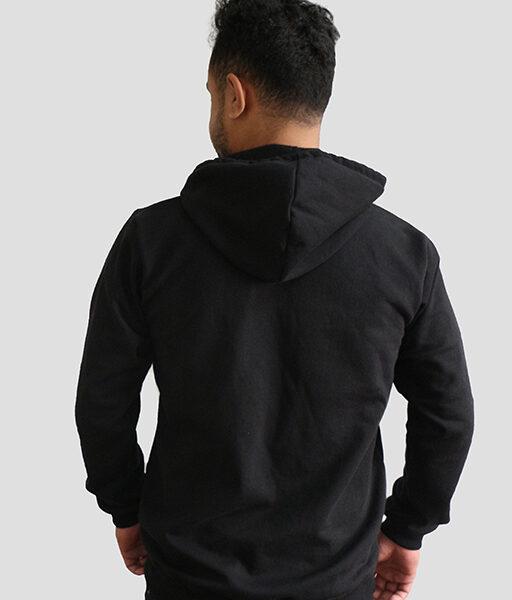 Sparsha Printed Black Hoodie