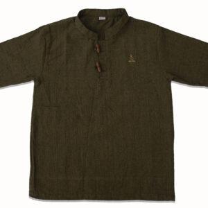 Half Sleeve Kurta (Seaweed Green)