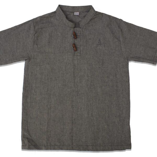 Half Sleeve Kurta (Dark Grey)