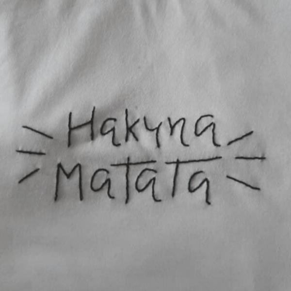 Hakuna Matata Hand Embroidery T-Shirt-White